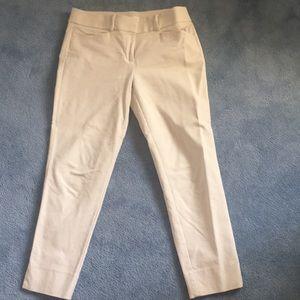 Lt neutral khaki or linen color. Cotton